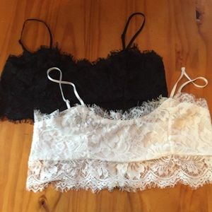 Tops - **Sale**Two lacy bralette tops, large
